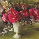 holiday flowers - bouquet of red flowers by Nicolette Owen - Veranda via Atticmag