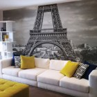interior photo murals - wall mural of Paris. The Wall Sticker Company via Atticmag