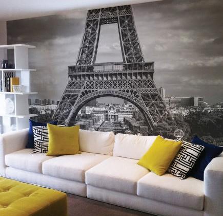 interior photo murals - wall mural of Paris. The Wall Sticker Company via Atticmag