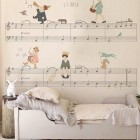 children's room wallpaper - music score chidrens wallpaper by Little Hands via Atticmag