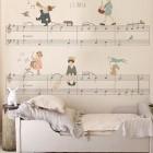 children's room wallpaper - music score chidrens wallpaper by Little Hands via Atticmag