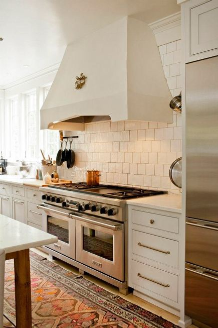 kitchen hood style - custom plaster range hood by Cantley and Company via Atticmag