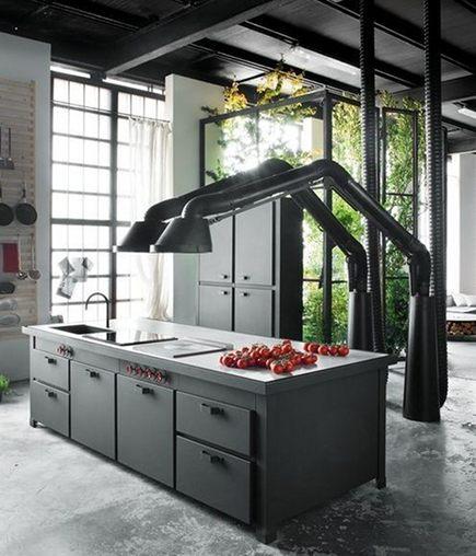 kitchen hood style - Mammut range hood by Minacciolo via Atticmag