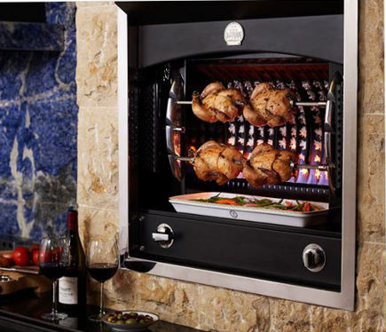kitchen luxuries - La Cornue Broche Flamberge rotisserie in black - Purcell Murray via Atticmag