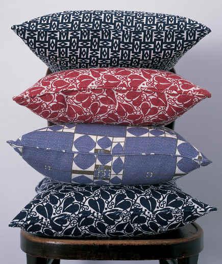 Wiener Werkstatte Fabric Throw Pillows - Neue Galerie via Atticmag