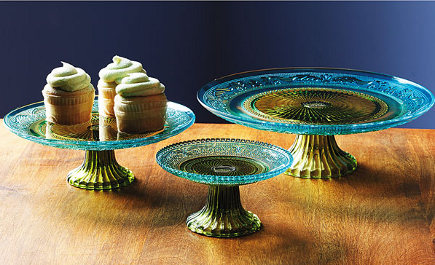 Vintage Pattern-Glass Cake Stands - Smithsonian Museum via Atticmag
