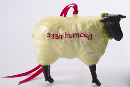 museum store christmas gifts - Baah Humbug Sheep Ornament - Art Institute of Chicago via Atticmag