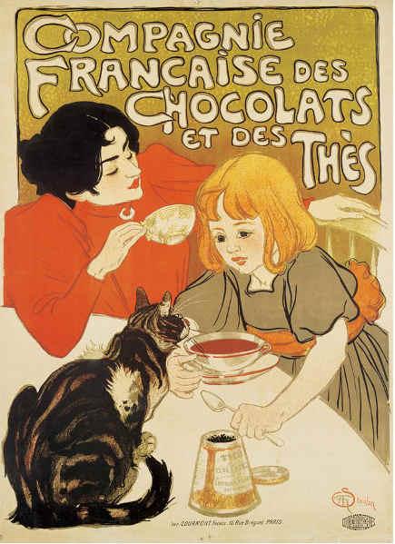 Steinlen Cat Poster panel - Metropolitan Museum of Art via Atticmag