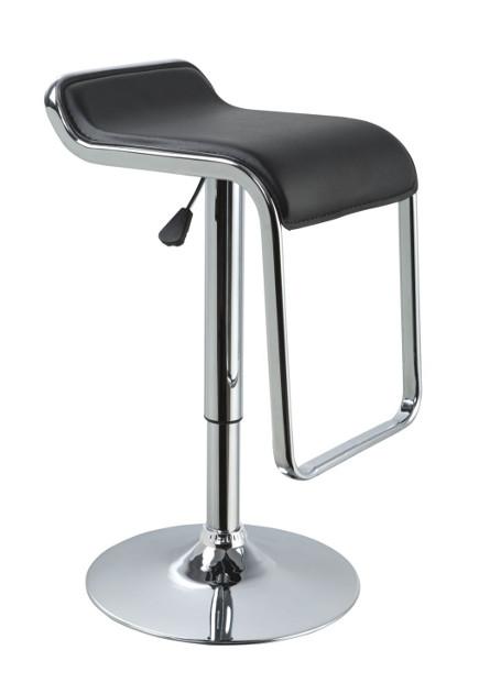 modern bar stools - eco-leather black contemporary bar stool – lafurniturestore.com via Atticmag