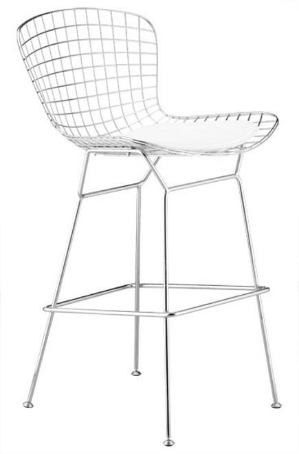 modern bar stools - wire bar stool white – lafurniturestore.com via Atticmag