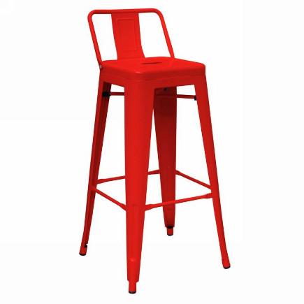 modern bar stools - modern red bar stool – lafurniturestore.com via Atticmag