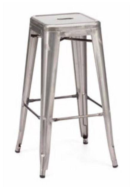 modern bar stools - modern gray bar stool – lafurniturestore.com via Atticmag
