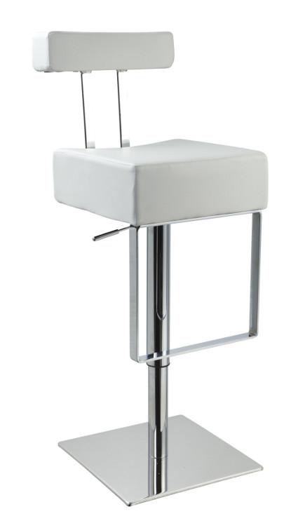 modern bar stools - eco-leather white contemporary bar stool – lafurniturestore.com via Atticmag