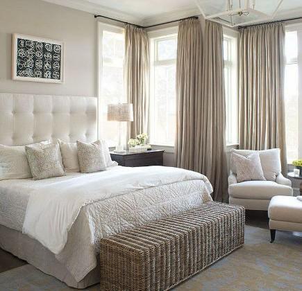 neutral bedroom decor - Wayne Windham Architects via Atticmag