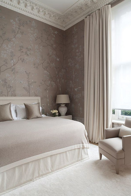neutral bedroom decor by Todhunter Earle - A Beasley via Atticmag