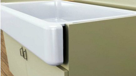 Kohler Whitehaven sink - enameled cast iron farm sink - Kohler via Atticmag