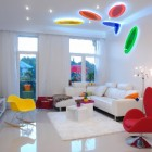 color block decor - white minimalist color block apartment in Budapest - Margeza via Atticmag
