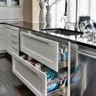 kitchen cabinet pull out ideas - under sink base drawers - capitoldesign via atticmag