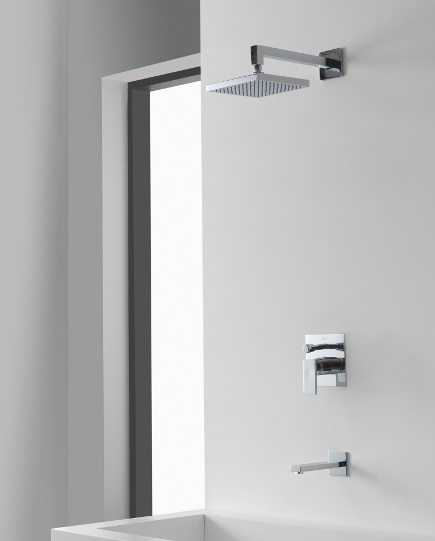shower system intelligence - Graff Solar 001 pressure balance shower - Graff via Atticmag