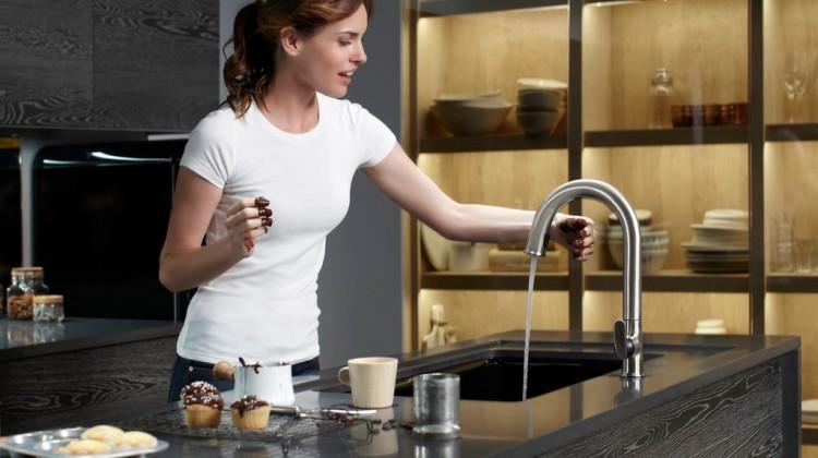 Sensate kitchen sensor faucet - Kohler via Atticmag