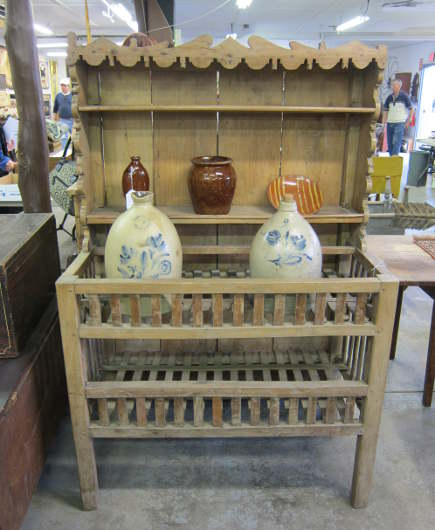 antique French wooden cheese press at a country auction - Atticmag