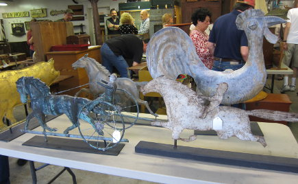 weather vane sculptures at a country auction - Atticmag