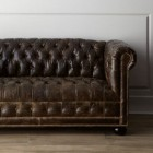 tufted sofas - Traditional Victorian tufted leather Chesterfield sofa – Horchow via Atticmag