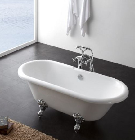 freestanding bathtubs - Duchess free-standing claw-foot acrylic bathtub- bathandshower.com via atticmag