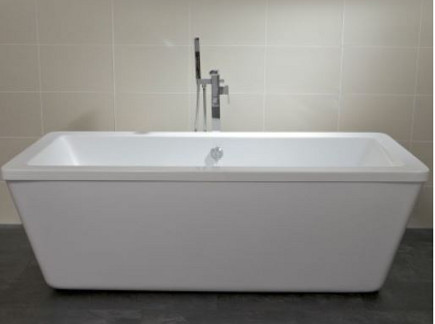 freestanding bathtubs - Baron acrylic rectangular freestanding tub - bathandshower.com via atticmag