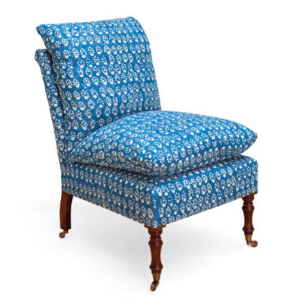 armless chairs - the Cushion Chair, bespoke slipper chair with pillows –  Soane Britain via - Victorian Style Armless Chairs
