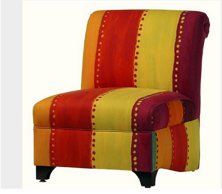 slipper chairs - custom slipper chair with Designer's Guild fabric – Jane Hall Design via Atticmag