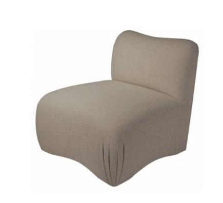 Jeffry II slipper chair with tight-upholstered deck and feet – J Robert Scott via Atticmag