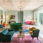 mixed color decor in the Fig House Lounge— stylebyemilyhenderson via atticmag