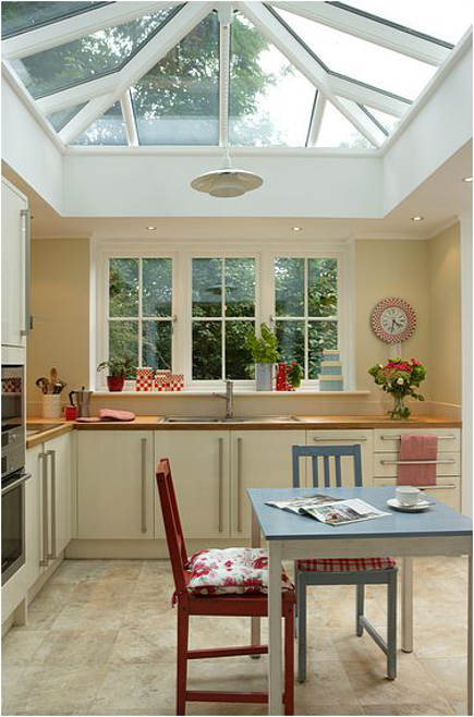 modest family conservatory kitchen - davidsalisbury via atticmag