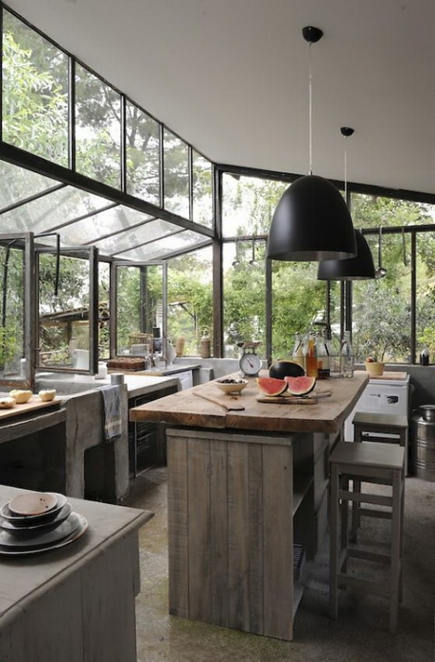 wabi sabi conservatory kitchen - paperscissororanges via atticmag