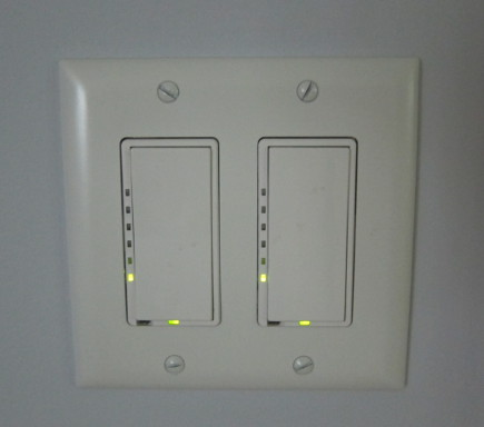 LED light bulbs - Leviton dimmer switches with LED indicator lights - Atticmag