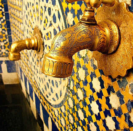 exotic sink faucets - incised Moroccan faucet - coco-morocco via atticmag