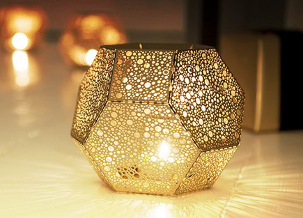 tea light holder - Brass Etch tea light holder by Tom Dixon - suiteny via atticmag