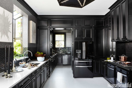 all black kitchen of the year for 2014 by Steven Miller - overview - house beautiful via atticmag