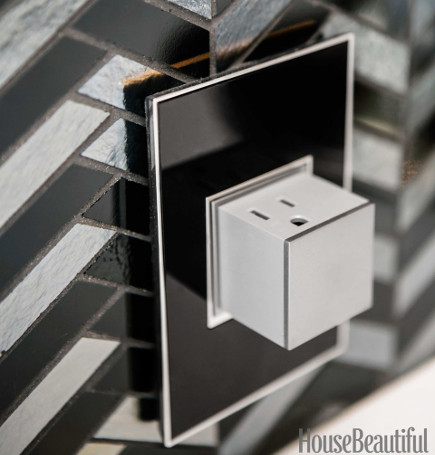 all black kitchen of the year for 2014 by Steven Miller - Legrand Adnorne Pop Out Outlet - house beautiful via atticmag