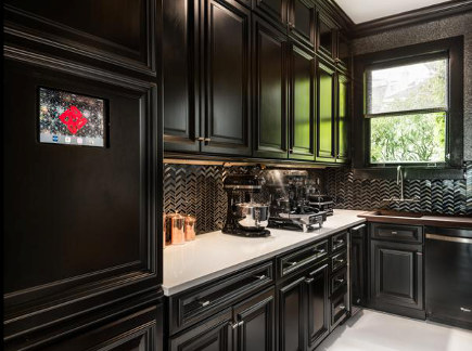 all black kitchen of the year for 2014 - butler's pantry overview - Steven Miller Design Studio via atticmag