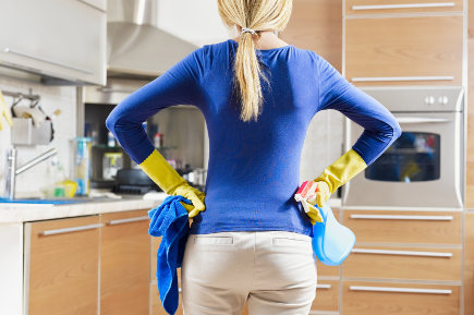 holiday kitchen cleaning - cleaning the kitchen - cleaning-services via atticmag