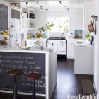 white cottage kitchen - California beach house kitchen with vintage Chambers stove - house beautiful via atticmag