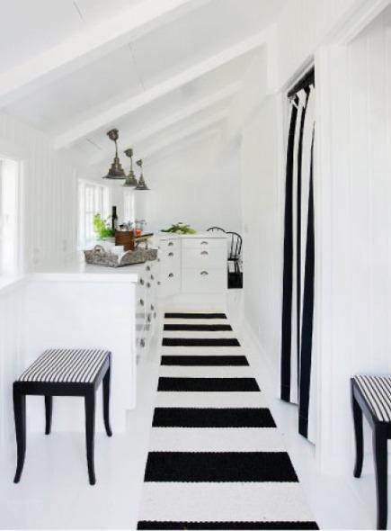 coastal cottage - black and white Danish coastal cottage - skonahem via atticmag