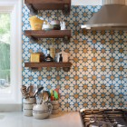 geometric tile - Snowbank patterned cement tile from Mosaic House - hellokitchen.net via atticmag