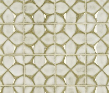 Ann Sacks Nottingham honeycomb tile in veil - Ann Sacks via Atticmag