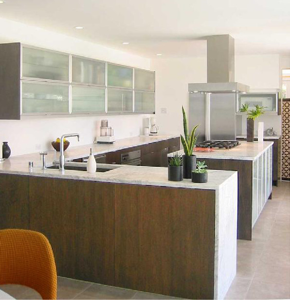 Walnut Kitchen   Contemporary Walnut And Marble Kitchen By Jill Crawford  Via Atticmag
