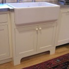 upmounted farm sink - fireclay farm sink with exposed rim - Atticmag