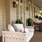 outdoor home décor ideas - whitewashed swinging Porch bed - Southern Living via Atticmag