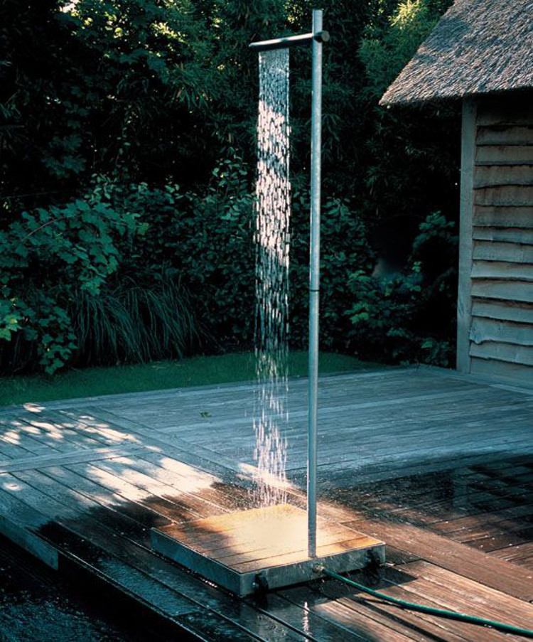 basic outdoor shower - portable Cascade shower by Tradewinds - Apartment Therapy via Atticmag